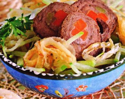 салат Цезарь   по Узбекски