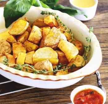 пататас бравас, жареный картофель с соусом,жареный картофель +с грибами,жареный картофель рецепт