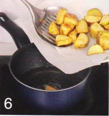 жареный картофель +с яйцом,картофель жареный основным способом