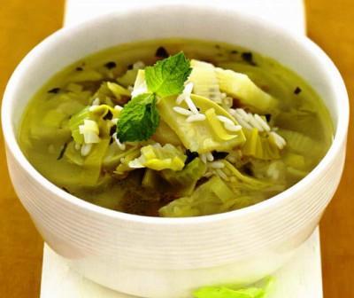 рисовый суп,