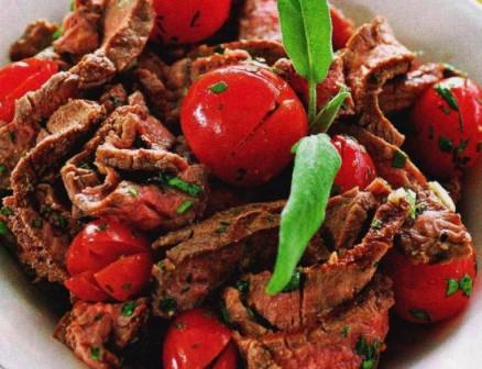 салат из говядины-гриль