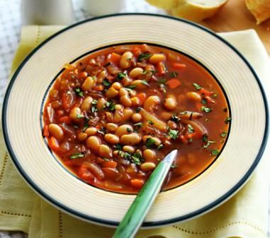 Готовим суп с фасолью фото,