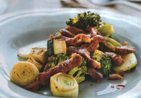 Свинина с овощами по-монакски